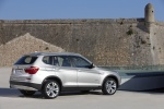 2013 BMW X3 xDrive35i in Mineral Silver Metallic - Static Rear Right Three-quarter View