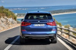 2019 BMW X3 M40i in Phytonic Blue Metallic - Driving Rear View