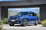2019 BMW X3 M40i in Phytonic Blue Metallic - Static Front Left Three-quarter View