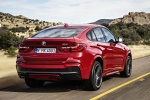 2018 BMW X4 in Melbourne Red Metallic - Driving Rear Right View