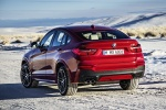 2018 BMW X4 in Melbourne Red Metallic - Static Rear Left View