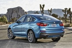 2018 BMW X4 M40i in Long Beach Blue Metallic - Static Rear Left View