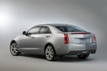 2014 Cadillac ATS 2.0T in Radiant Silver Metallic - Static Rear Left Three-quarter View