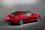 2015 Cadillac ATS Coupe 3.6 in Red Obsession Tintcoat - Static Rear Right Three-quarter View