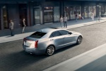 2015 Cadillac ATS Sedan 2.0T in Radiant Silver Metallic - Driving Rear Right Three-quarter View
