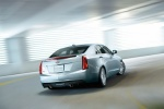 2018 Cadillac ATS Sedan 2.0T in Radiant Silver Metallic - Driving Rear Right View