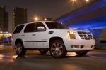 2012 Cadillac Escalade Hybrid in White Diamond Tricoat - Static Front Right View