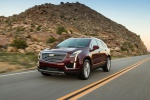 2019 Cadillac XT5 AWD in Red - Driving Front Left Three-quarter View