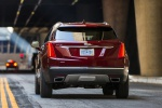 2019 Cadillac XT5 AWD in Red - Driving Rear View