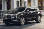 2019 Cadillac XT5 AWD in Dark Granite Metallic - Driving Front Left Three-quarter View