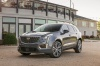 2020 Cadillac XT5 Premium Luxury AWD in Satin Steel Metallic from a front left view
