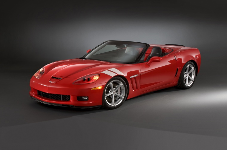 2010 Chevrolet Corvette Grand Sport Convertible in Torch Red from a front left three-quarter view