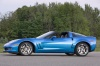 2010 Chevrolet Corvette Grand Sport Coupe in Jetstream Blue Metallic Tintcoat from a left side view