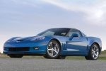 2010 Chevrolet Corvette Grand Sport Coupe in Jetstream Blue Metallic Tintcoat - Static Front Left Three-quarter View