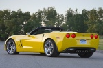2010 Chevrolet Corvette Grand Sport Convertible in Velocity Yellow Tintcoat - Static Rear Left Three-quarter View
