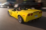 2010 Chevrolet Corvette Grand Sport Convertible in Velocity Yellow Tintcoat - Driving Rear Left Three-quarter View