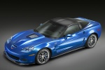 2010 Chevrolet Corvette ZR1 in Jetstream Blue Metallic Tintcoat - Static Front Left Three-quarter Top View