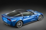 2010 Chevrolet Corvette ZR1 in Jetstream Blue Metallic Tintcoat - Static Rear Right Three-quarter Top View
