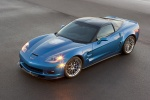 2010 Chevrolet Corvette ZR1 in Jetstream Blue Metallic Tintcoat - Static Front Left Three-quarter View