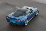2010 Chevrolet Corvette ZR1 in Jetstream Blue Metallic Tintcoat - Static Rear Right Top View