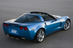2010 Chevrolet Corvette Grand Sport Coupe in Jetstream Blue Metallic Tintcoat - Static Rear Right Three-quarter View