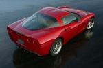 2010 Chevrolet Corvette Coupe in Crystal Red Metallic Tintcoat - Static Rear Right Three-quarter Top View