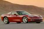 2010 Chevrolet Corvette Coupe in Crystal Red Metallic Tintcoat - Static Front Right Three-quarter View