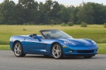 2010 Chevrolet Corvette Convertible in Jetstream Blue Metallic Tintcoat - Static Front Right Three-quarter View