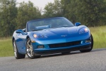 2010 Chevrolet Corvette Convertible in Jetstream Blue Metallic Tintcoat - Static Frontal View