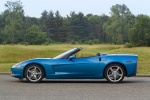 2010 Chevrolet Corvette Convertible in Jetstream Blue Metallic Tintcoat - Static Side View