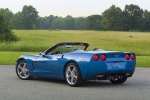 2010 Chevrolet Corvette Convertible in Jetstream Blue Metallic Tintcoat - Static Rear Left View