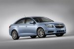 2012 Chevrolet Cruze Eco in Ice Blue Metallic - Static Front Right Three-quarter View