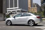 2014 Chevrolet Cruze LT in Silver Ice Metallic - Driving Rear Left Three-quarter View