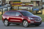 2012 Chevrolet Traverse LTZ in Crystal Red Tintcoat - Static Front Right View