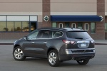 2013 Chevrolet Traverse LTZ AWD in Black Granite Metallic - Static Rear Left Three-quarter View