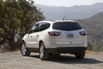2013 Chevrolet Traverse LTZ in White - Static Rear Left View