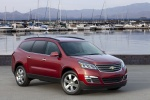 2014 Chevrolet Traverse LTZ AWD in Crystal Red Tintcoat - Static Front Right Three-quarter View