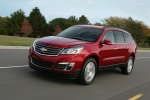 2014 Chevrolet Traverse LTZ AWD in Crystal Red Tintcoat - Driving Front Left Three-quarter View