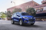 2018 Chevrolet Trax Premier in Blue - Driving Front Right Three-quarter View