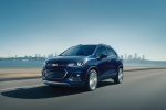 2018 Chevrolet Trax Premier in Storm Blue Metallic - Driving Front Left Three-quarter View