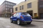 2018 Chevrolet Trax Premier in Blue - Driving Rear Left View