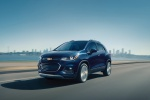 2020 Chevrolet Trax Premier in Blue - Driving Front Left Three-quarter View