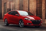 2015 Dodge Dart Sedan in Redline 2 Coat Pearl - Static Front Right Three-quarter View