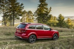 2019 Dodge Journey Crossroad AWD in Redline 2 Coat Pearl - Static Rear Right Three-quarter View
