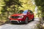 2019 Dodge Journey Crossroad AWD in Redline 2 Coat Pearl - Driving Front Left Three-quarter View