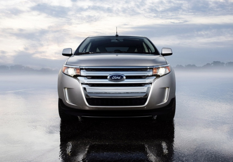 2011 Ford Edge Limited in Ingot Silver Metallic from a frontal view