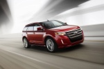 2011 Ford Edge Sport in Red Candy Metallic Tinted Clearcoat - Driving Front Right Three-quarter View
