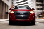 2011 Ford Edge Sport in Red Candy Metallic Tinted Clearcoat - Driving Frontal View