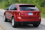 2011 Ford Edge SEL in Red Candy Metallic Tinted Clearcoat - Driving Rear Left View
