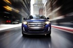 2011 Ford Edge Limited in Kona Blue Metallic - Driving Frontal View